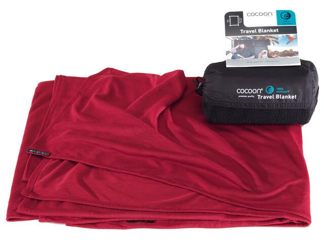Cocoon Travel Blanket coolmax monk's red